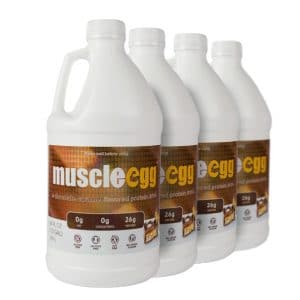 4 Half Gallons Chocolate Caramel MuscleEgg