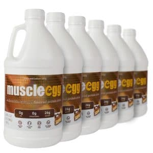 6 Half Gallons Chocolate Caramel MuscleEgg