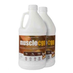 2 Half Gallons Chocolate Caramel MuscleEgg