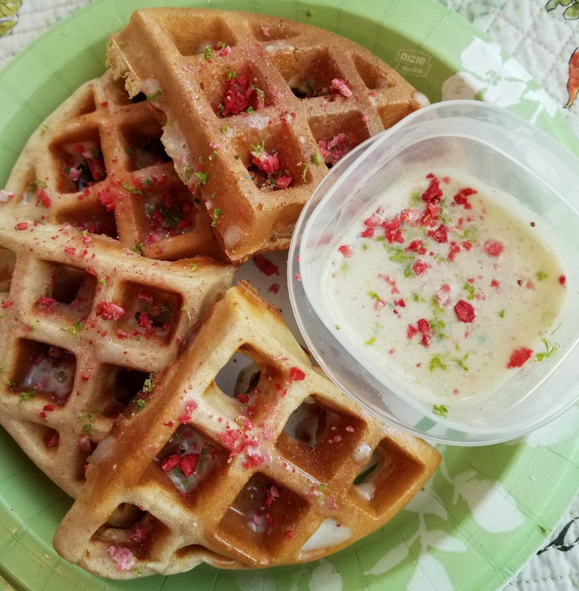 Key Lime Protein Waffle & Fruit Cereal Syrup