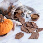 Pumpkin Spice Flax Crackers