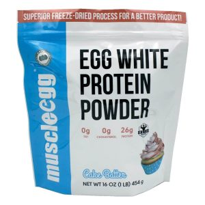 NEW!! Vanilla Egg White Protein Powder