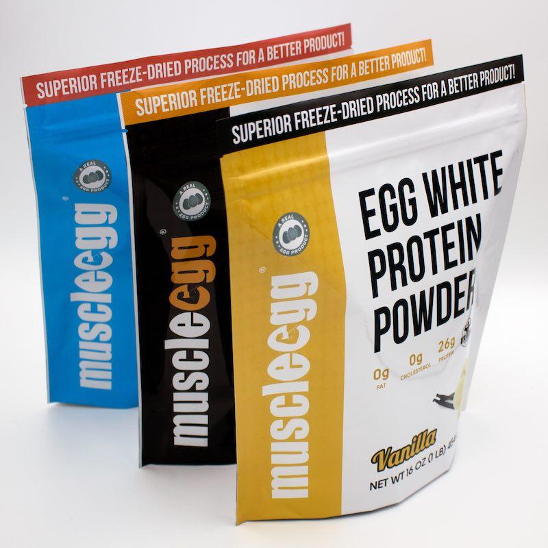 MuscleEgg Liquid Egg Whites | Powder Egg Whites | Flavored & Plain