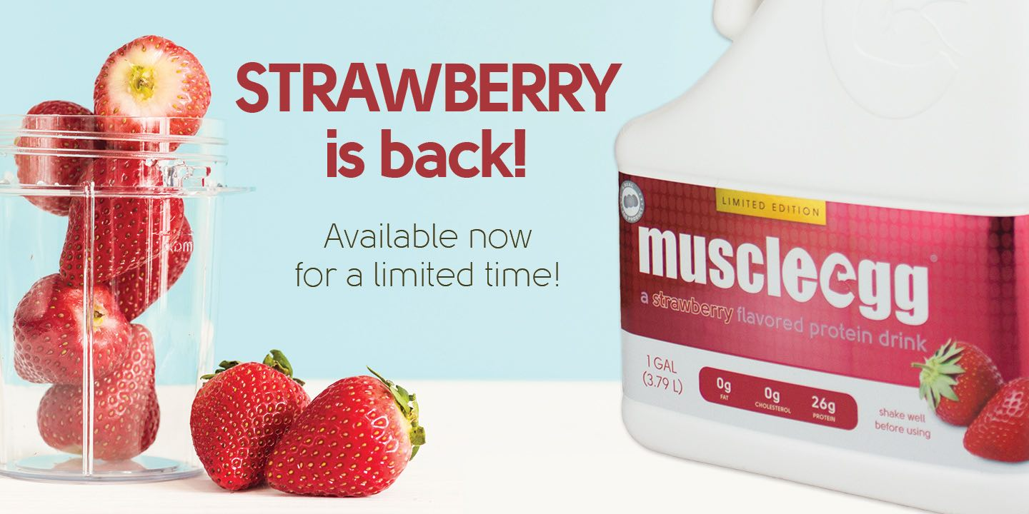 Strawberry is back! Available now for a limited time.