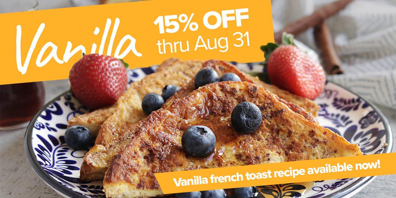 Save 15% off vanilla liquid egg whites