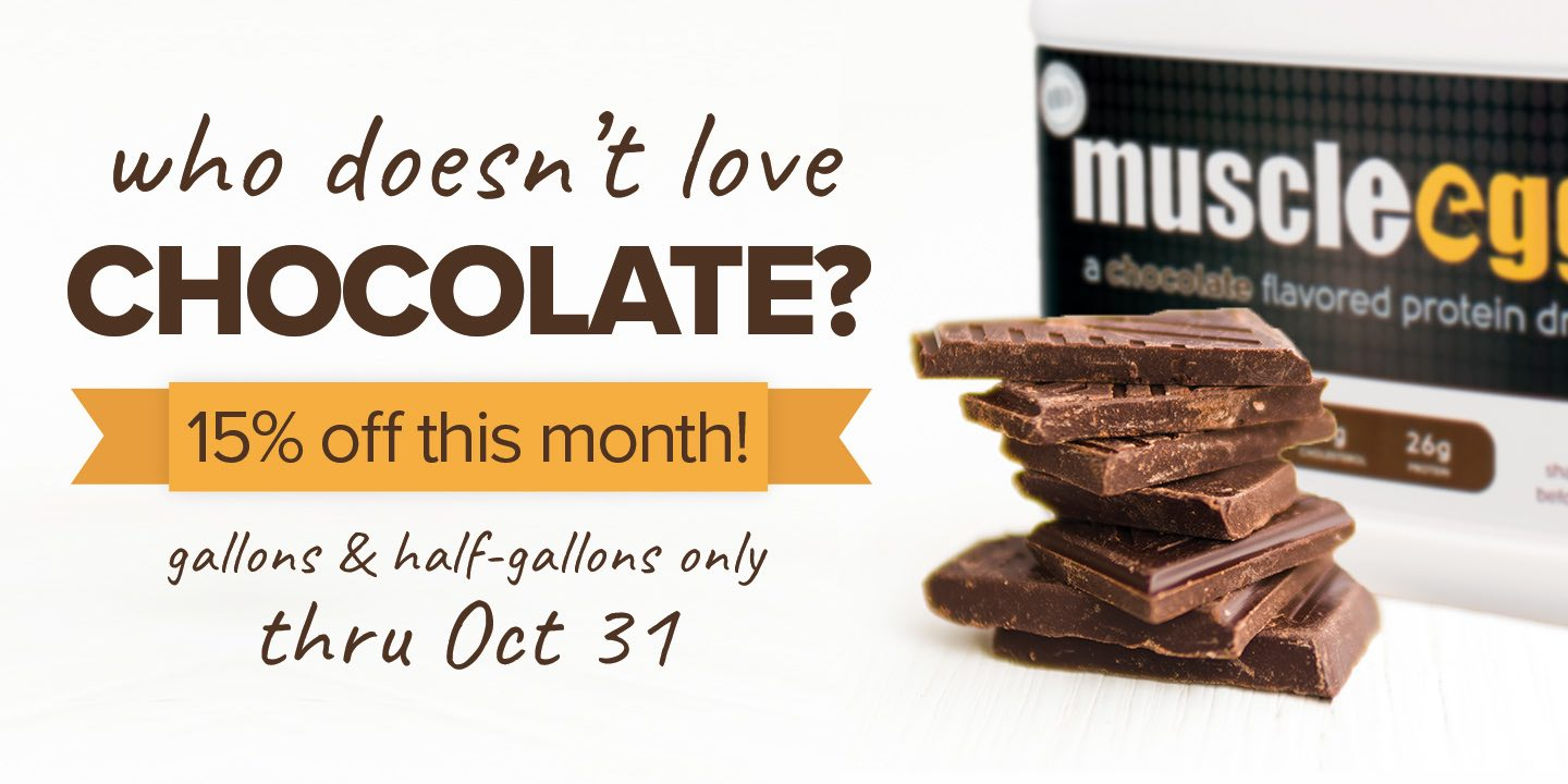 Chocolate Gallons and Half-Gallons 15% off this month
