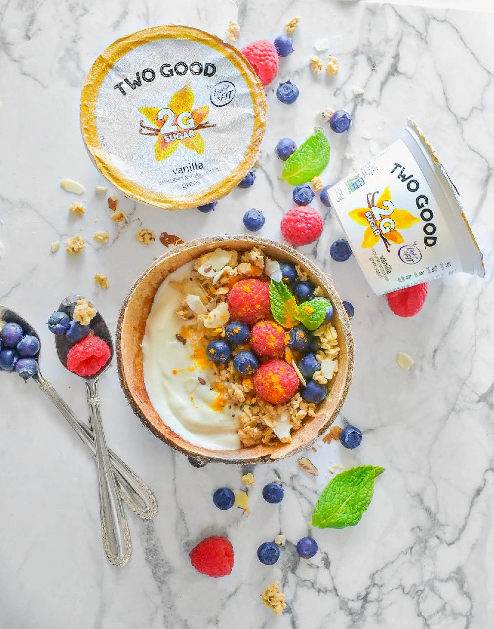 Mother's Day Bliss Bowls using yogurt and fresh fruits
