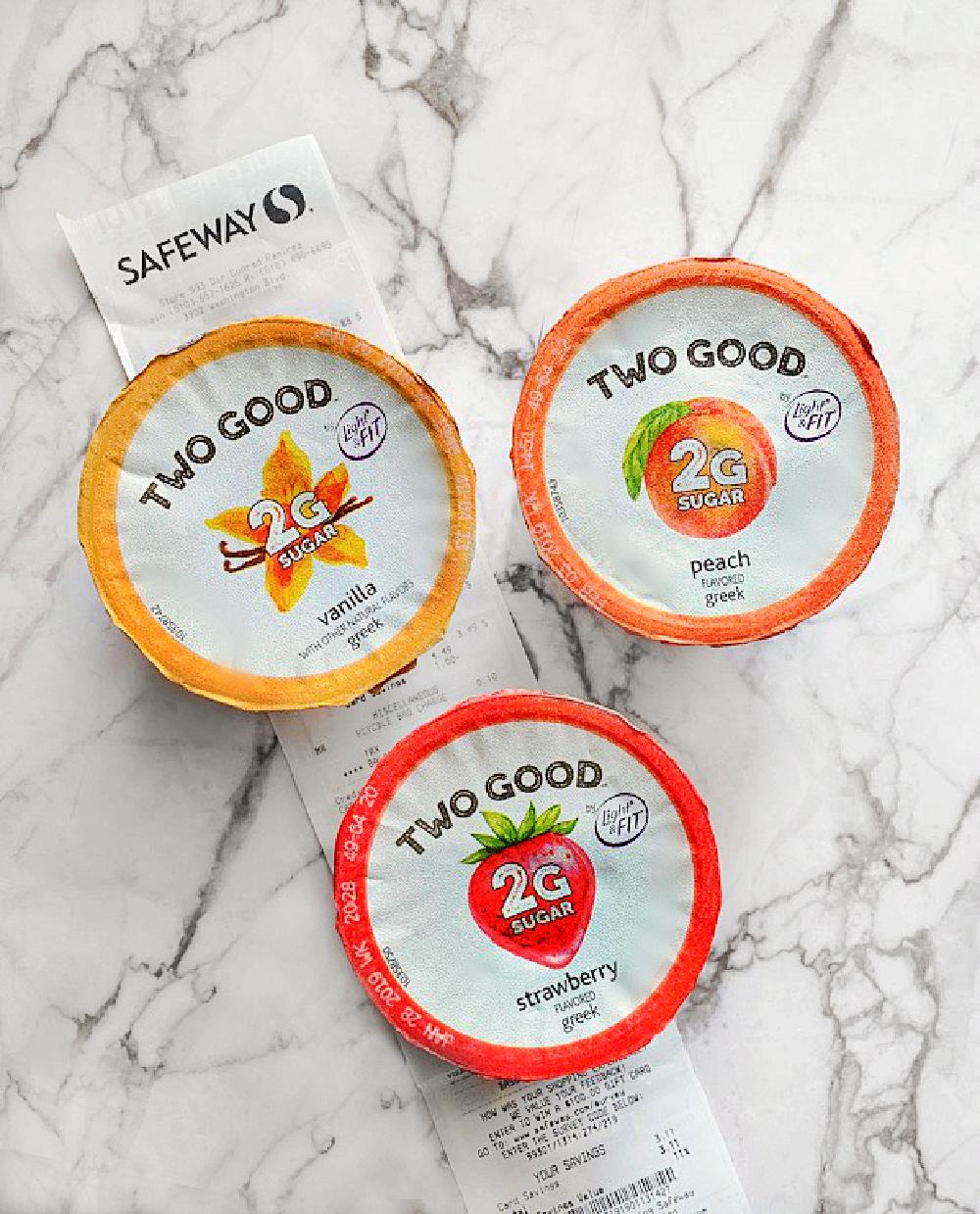 Too Good Yogurt with safeway reciept