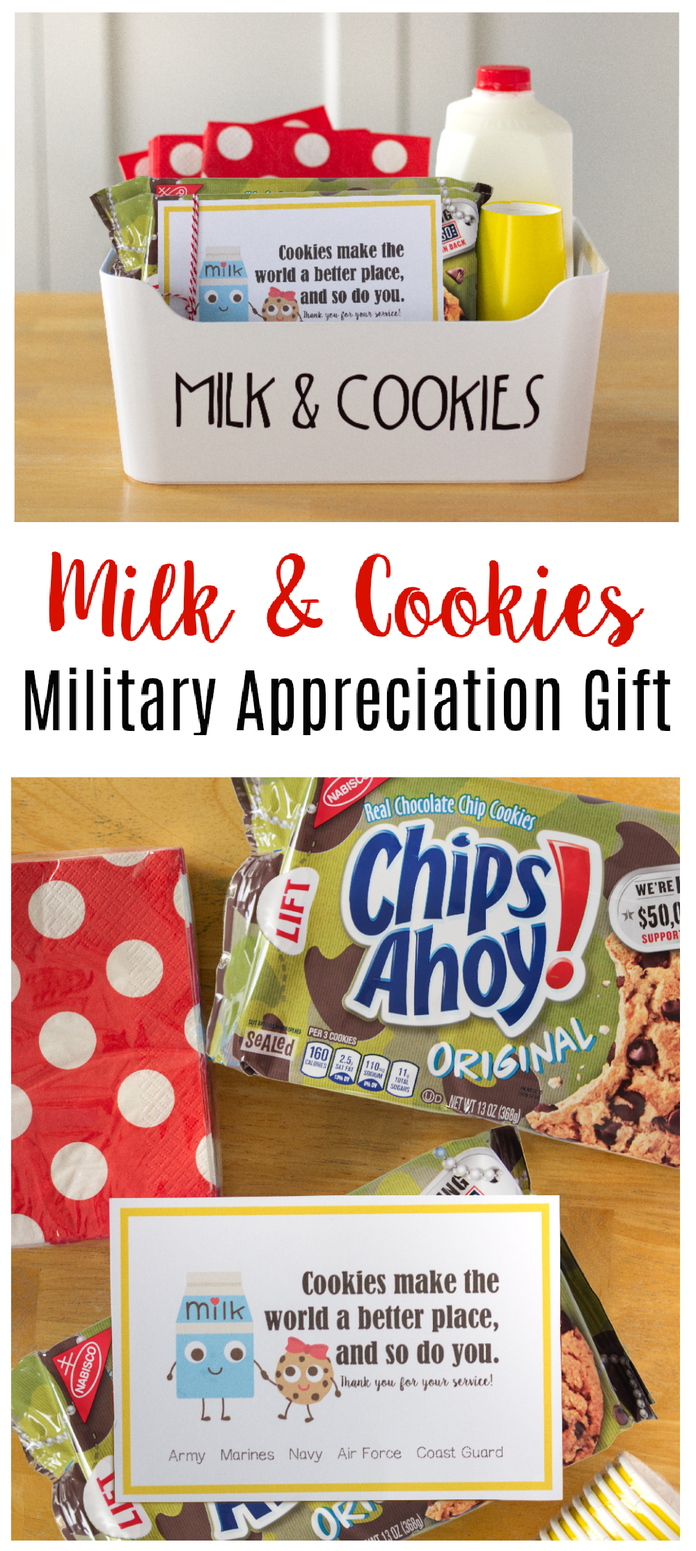 milk and cookies military appreciation gift