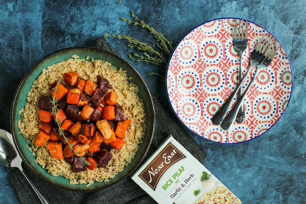 Roasted Vegetable Rice Bowl - Vegan Rice Bowl