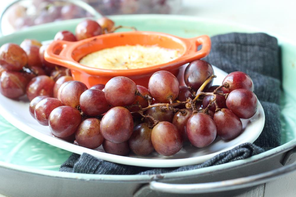 Smoked Grapes with Goat Cheese Fondue