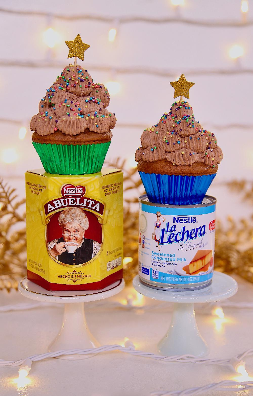 Mexican Chocolate Tres Leches Cupcakes with Abuelita and LA Lechera
