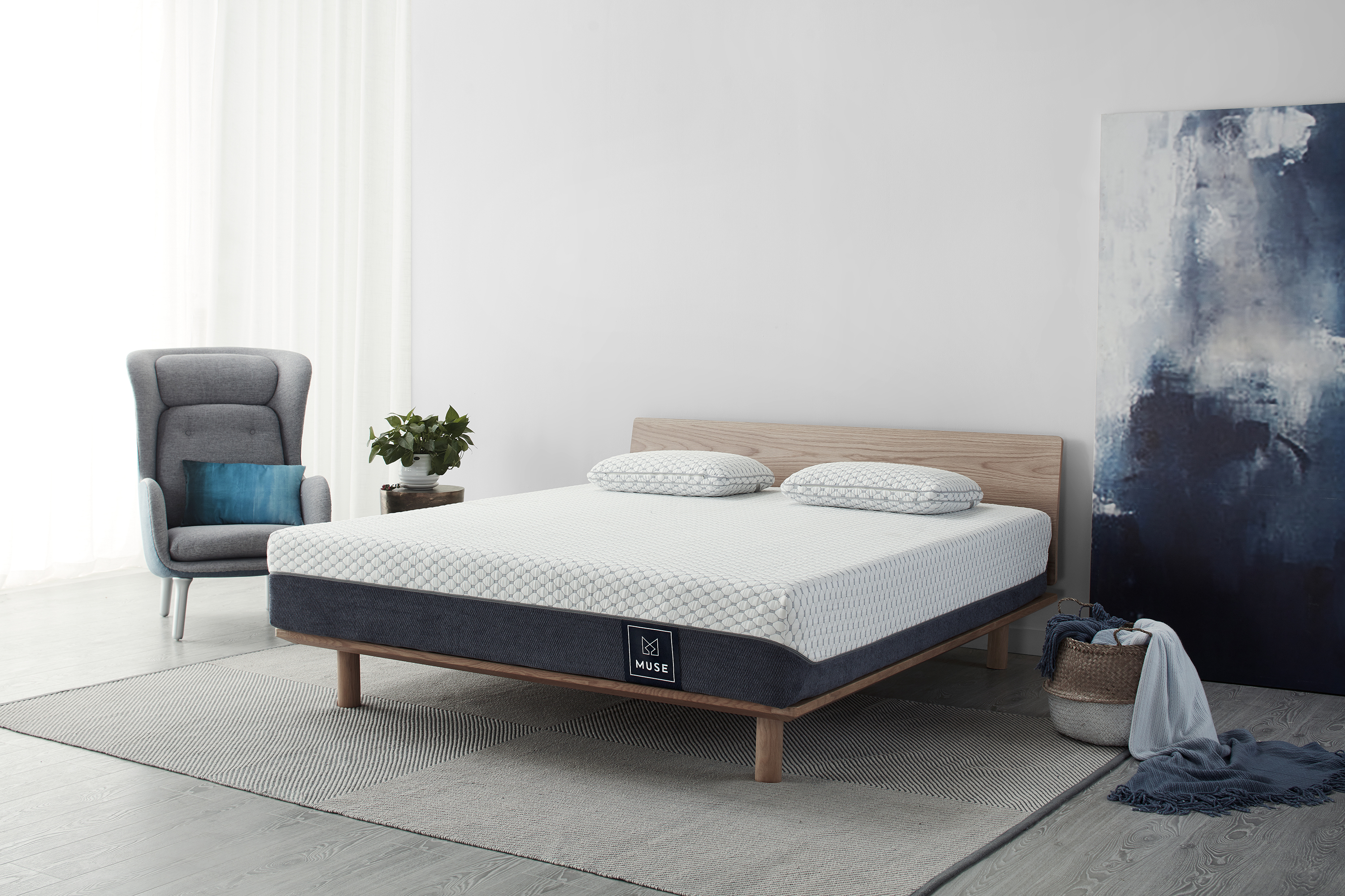 Muse mattress in bedroom
