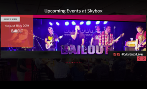 Feature Events on your Venue TV