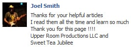 9 - Joel Smith Facebook Testimonial