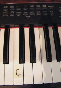 The C Note Position On A Keyboard