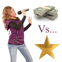 Fame vs money in the music industry