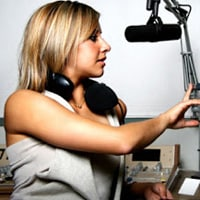 A radio DJ hosting a mixtape