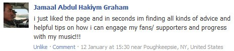 Testimonial from Jamaal Abdul Hakiym Graham on Facebook