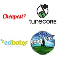 Is tunecore cd baby or songcast cheapest