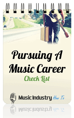 Pursuing A Music Career Check List Cover