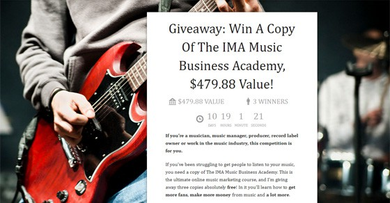 Win a copy of the IMA Music Business Academy
