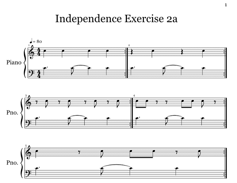 Music Keyboard Basics 3 Hand Independence Exercises To Practice