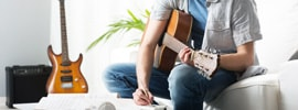 Begin a song by writing lyrics when inspired