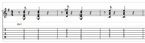 Jazz guitar - example 4
