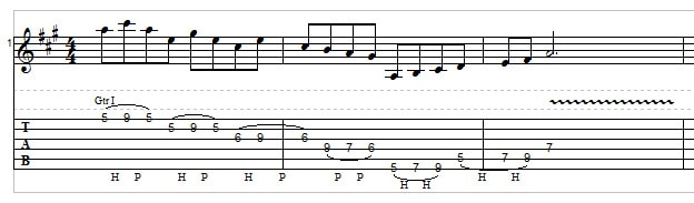Big Stretch Chords and Licks - example 4