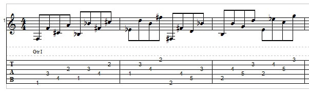 Big Stretch Chords and Licks - example 1