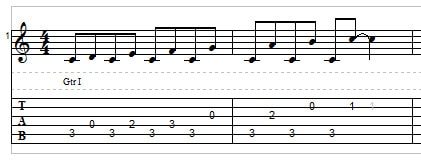 Big Stretch Chords and Licks - example 2