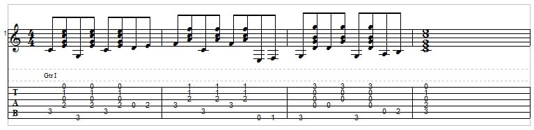 Country guitar, exercise 3