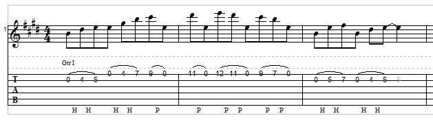 Open string lick example 4