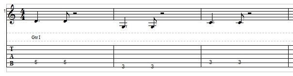 Jazz bass line example 1