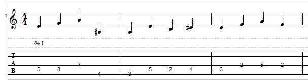 Jazz bass line example 3