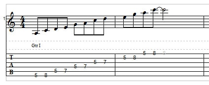 A minor pentatonic speed drill 1