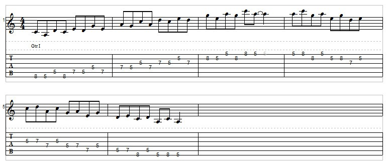 A minor pentatonic speed drill 2
