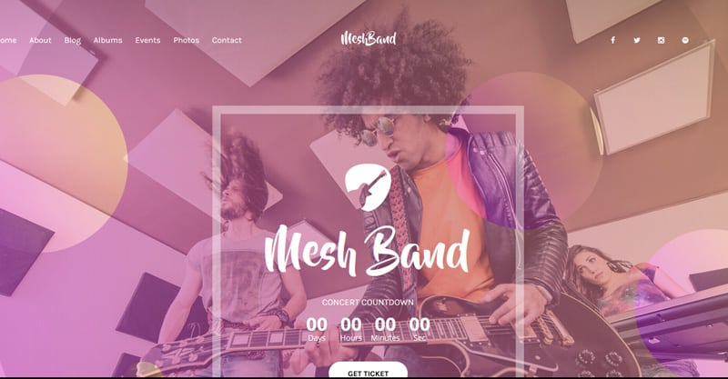 MESH | Music, Band, Musician, Event, Club Theme