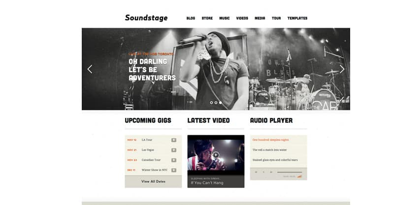 Soundstage – WordPress Theme For Bands/Musicians