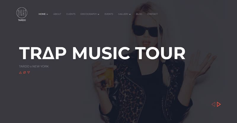 TARDO – DJ Producer Band Musician WordPress Theme