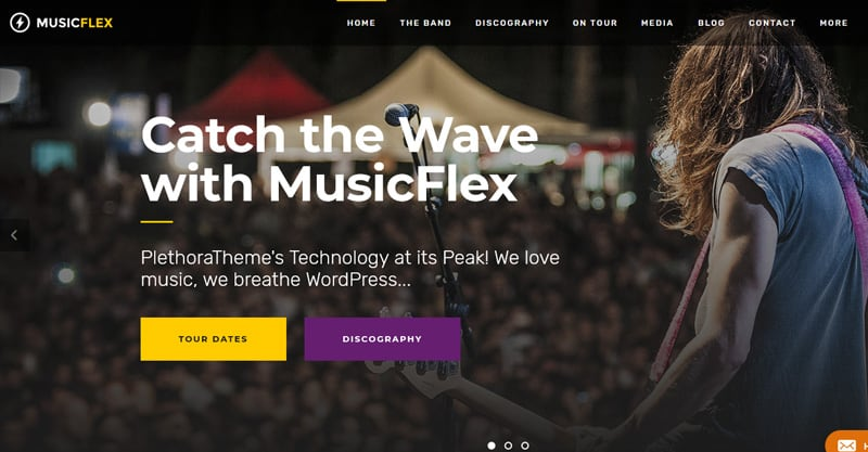 MusicFlex – A Flexible Music WordPress Theme