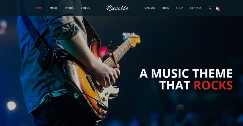 Lucille – Music WordPress Theme