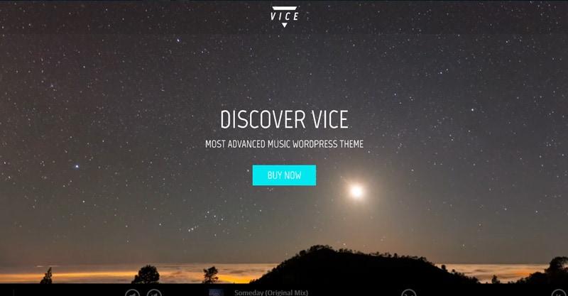 Vice: Music Band, Dj And Radio WordPress Theme