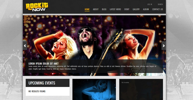 Rockit Now – Music Band WordPress Theme
