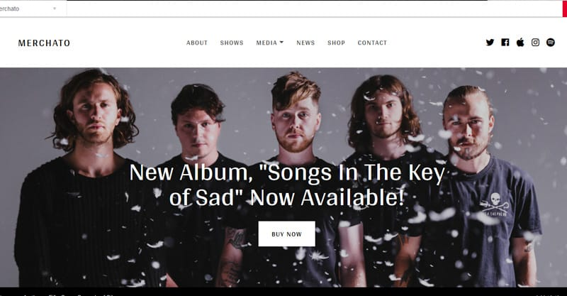 Merchato – Music And Band eCommerce WordPress Theme