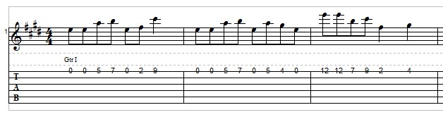 Writing a solo on one string example