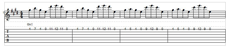 Arpeggios on one string