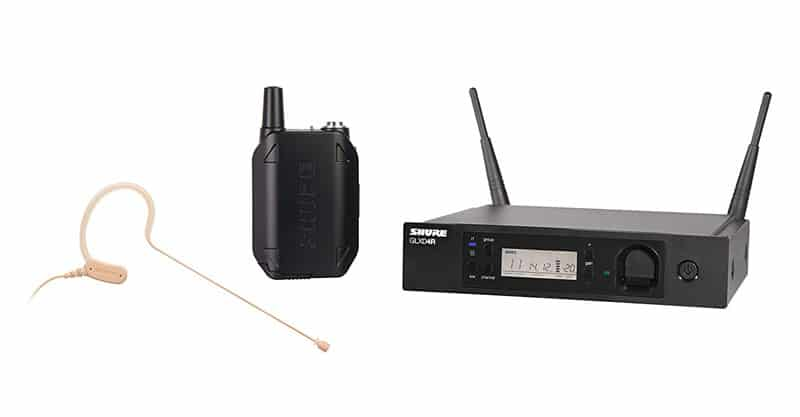 Shure GLXD14R/MX53-Z2 Headset Wireless Microphone System With MX153