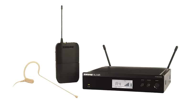 Shure BLX14R/MX53 Headworn Wireless System With MX153